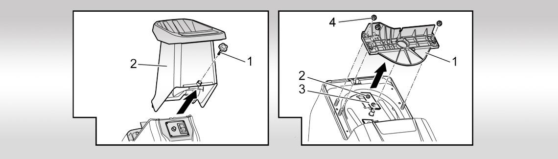 AL-KO tilbehør til pleje af træer/hække| knivskifte kompostkværn